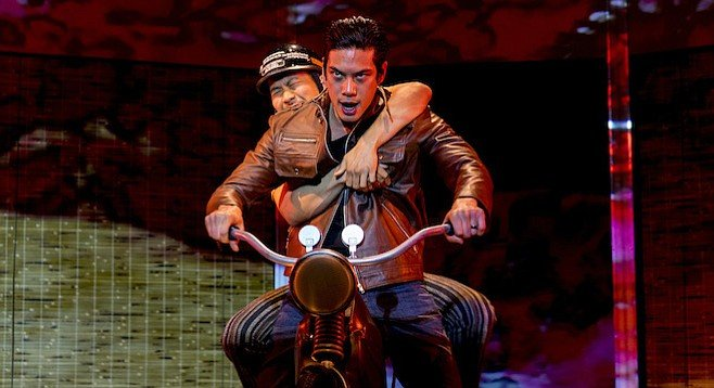Lawrence Kao as Nhan/Khue/Asian Guy/American Guy and Ben Levin as Quang