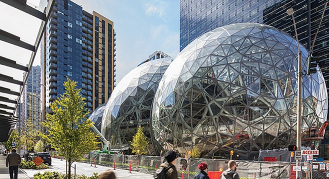 Will Amazon's HQ2 have such highly modern buildings as those at their Seattle headquarters?