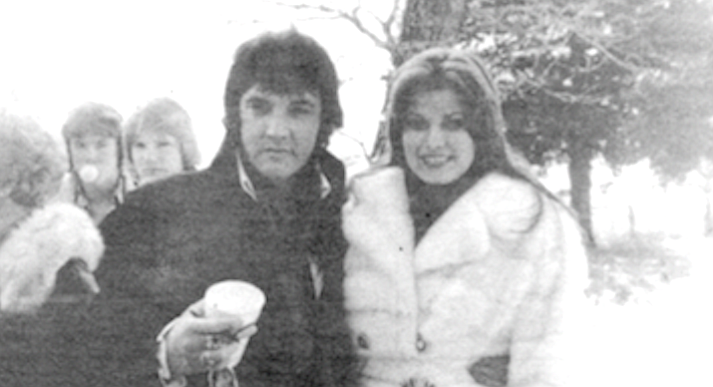 Elvis with Ginger Alden, c. 1976