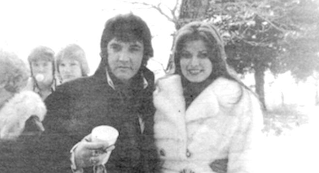 Elvis with Ginger Alden, c. 1976
