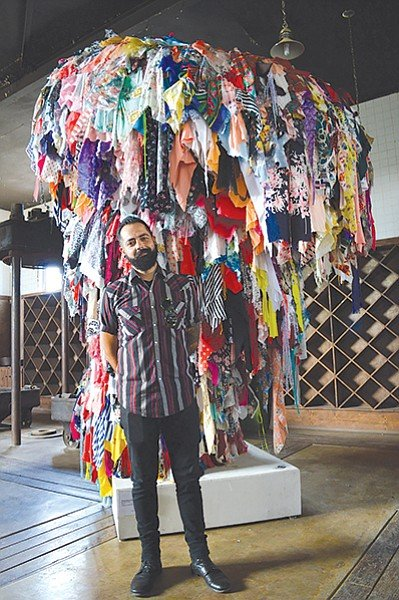 Daniel Barron Corrales has been helping his family buy and sell fabric at the Spring Valley Swap Meet since he was five years old.