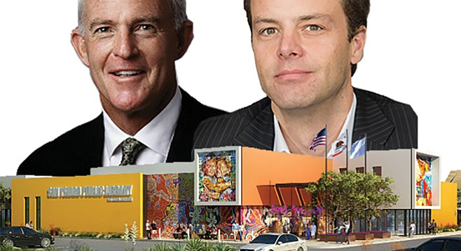 John Kilroy and Phillip Tate of L.A.'s Kilroy Realty donated $103,000 for a tech center at San Ysidro Library.