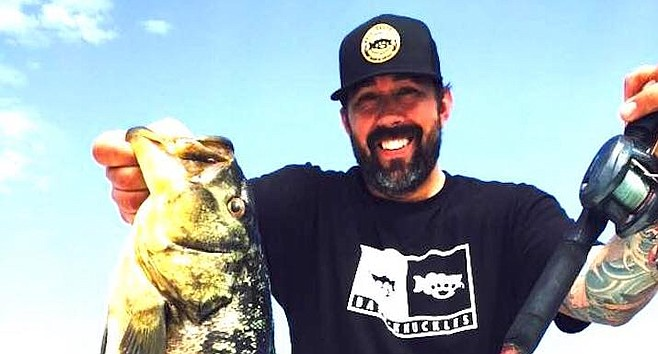 Matt Moyer, the Destroyer, with calico bass