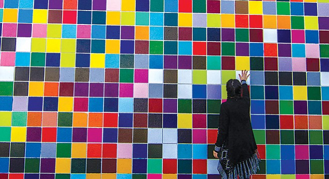 Favorite Color mural is the most Instagrammed of the Murals of La Jolla.