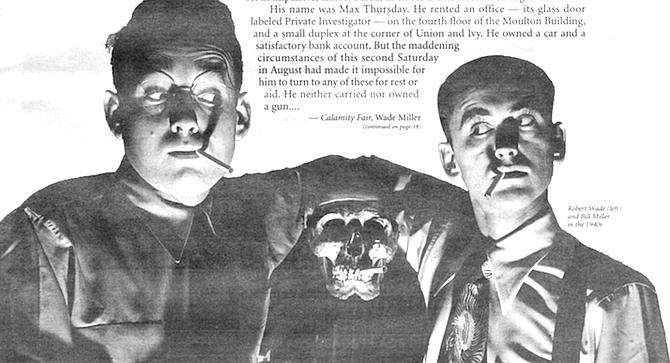 Robert Wade (left) and Bill Miller in the 1940s