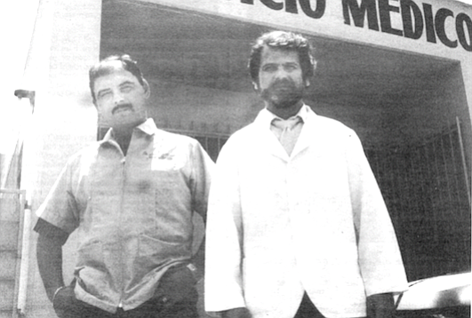 """Doctors Amador and Escajadillo. """"There is no such thing as the perfect crime."""""""