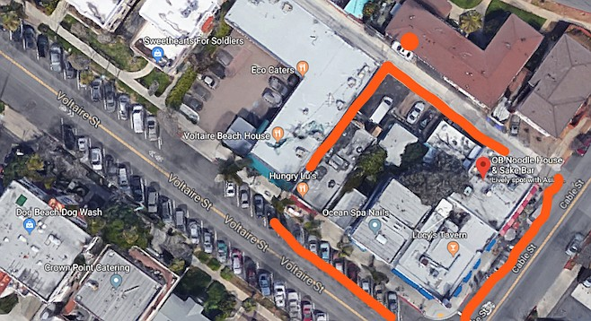 The area of the parcel amounts to about a quarter of the block.