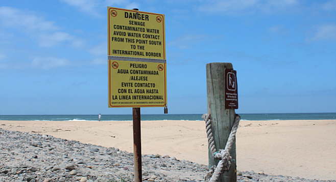 Imperial Beach sewage-spill sign