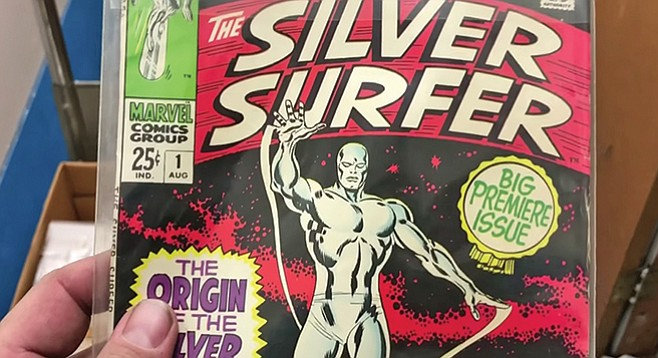 One of Rene's finds: Silver Surfer #1 - Image by Mike Madriaga