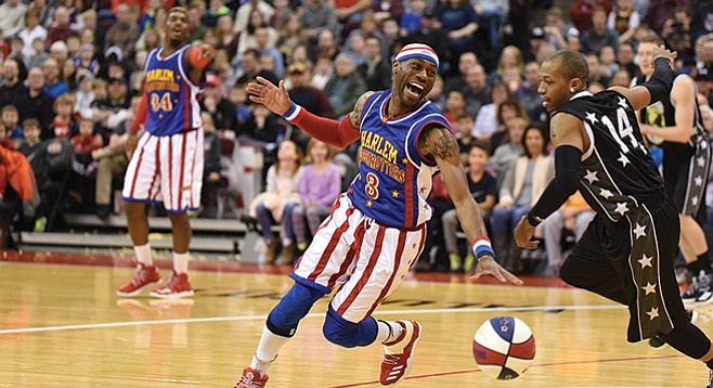 The Globetrotters take on the Washington Generals. The game could go either way.