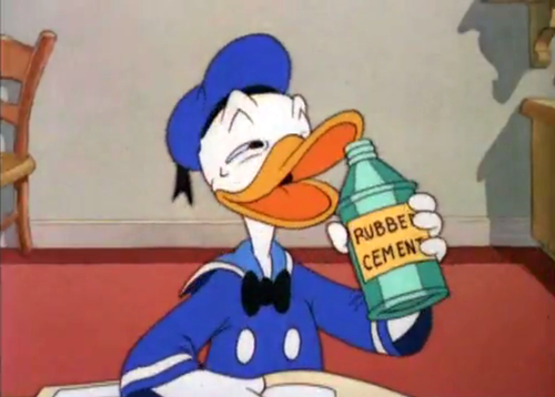 Donald stars in The Huffing Duck (1943).