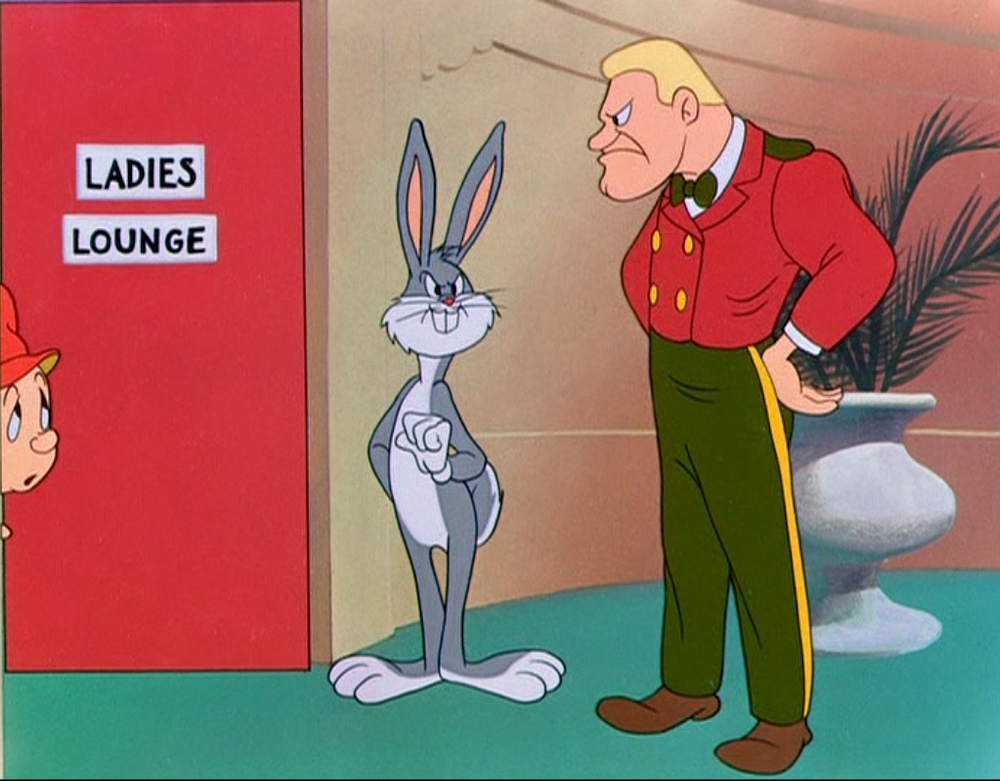 Transgender bathrooms in Hare Do (1949).