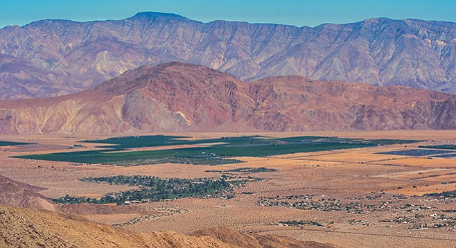 Lookout Point is a great place to view Borrego Valley.