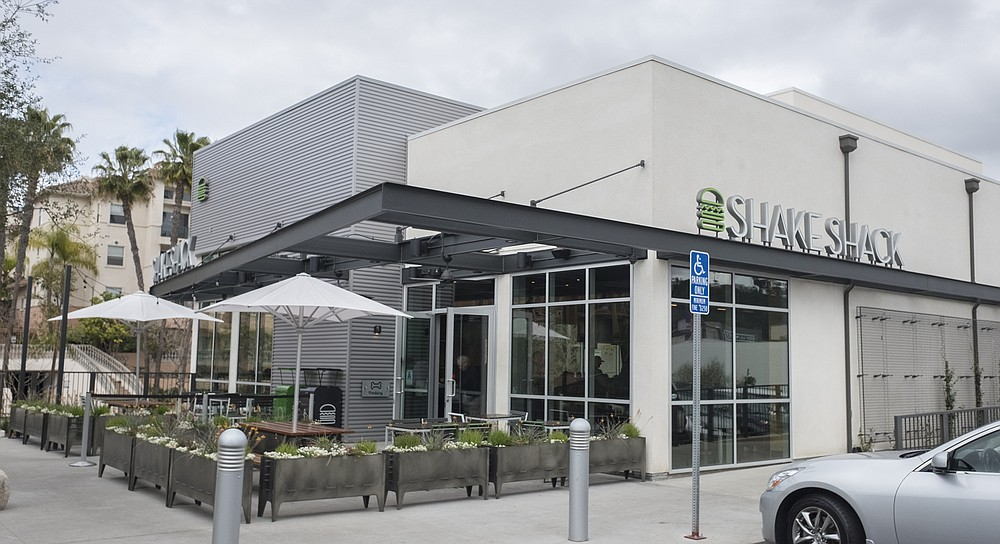 The new Shake Shack location (not located at the mall) in Mission Valley.