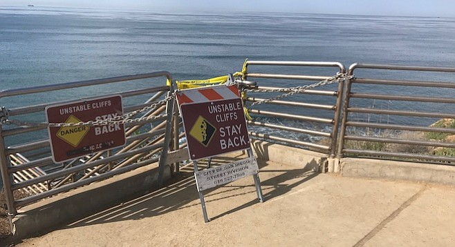 Ladera Street stairs at Sunset Cliffs