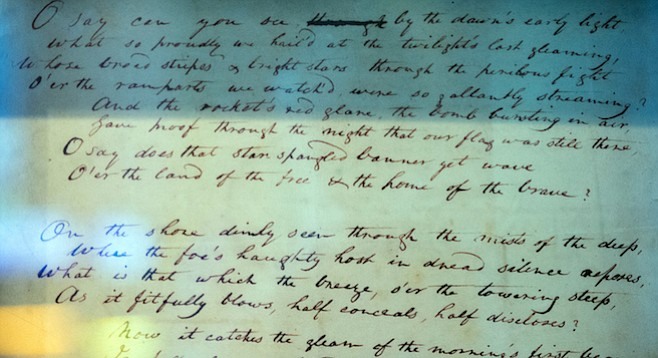 """Lyrics to Francis Scott Key's """"Star-Spangled Banner"""""""