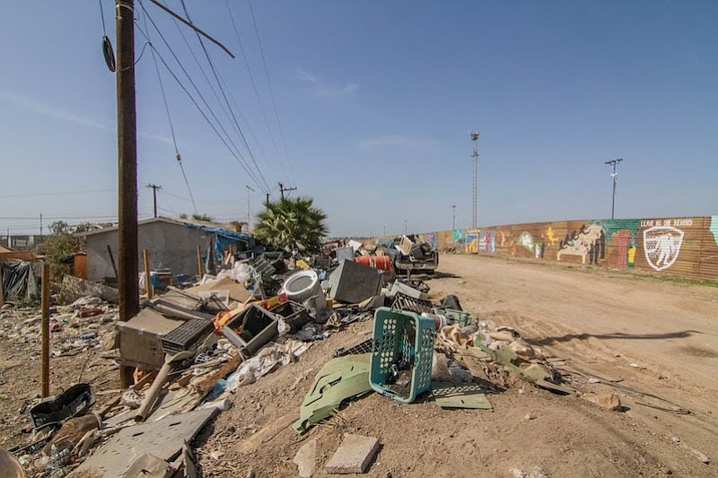 Junk near border-wall site