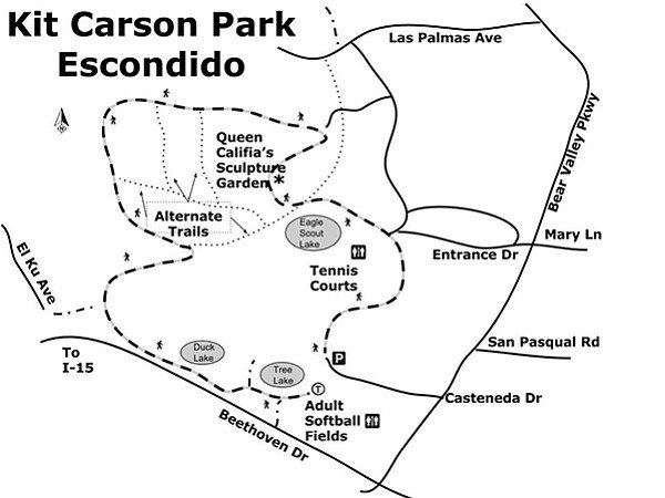 Kit Carson Park hiking trails