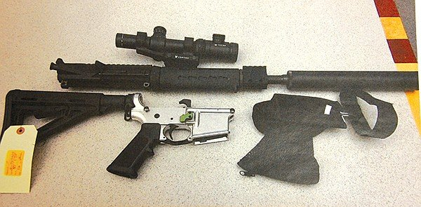 "McDavid's rifle. ""The AR platform is an extension of my body,"" he boasted at trial."