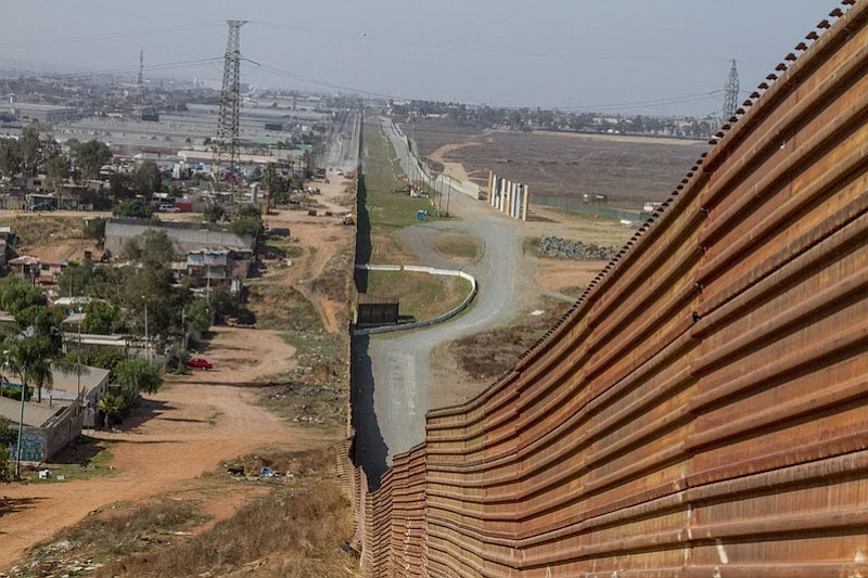 The walls are closed off from the public on the American side of the border but easily viewed from the most eastern part of Tijuana.