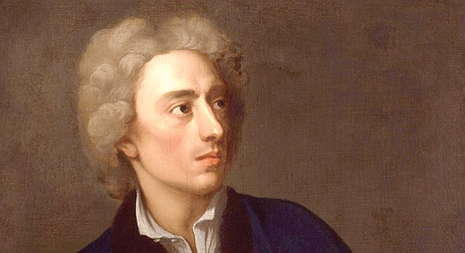Alexander Pope — the second-most frequently quoted writer in the Oxford Dictonary of Quotations after Shakespeare.