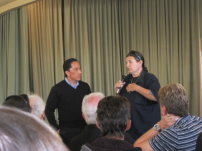 Todd Gloria and the audience listening to James Prince's side of the story