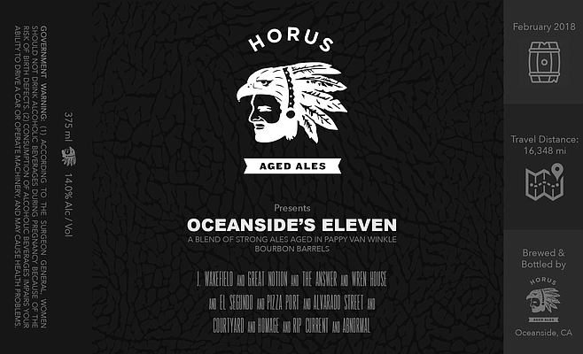 Bottle label for Oceanside's 11, which sold out in two seconds.