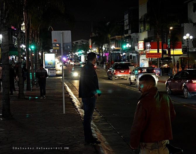 Neighborhood Photos Tijuana,Baja California,Mexico Revolucion avenue at night