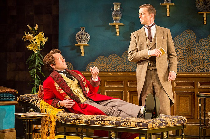 Algernon Moncrieff (Christian Conn) and John Worthing (Matt Schwader). - Image by Jim Cox