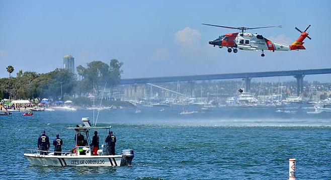 In action on Glorietta Bay