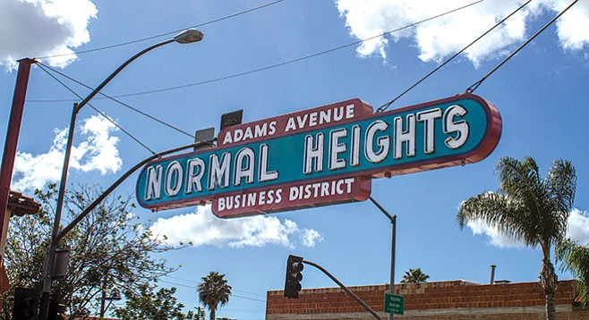"""The Normal Heights sign is the only original neon sign I'm aware of that still hangs in San Diego,"" says Scott Kessler. - Image by Matthew Suárez"