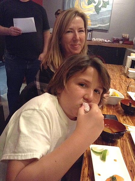 Michelle, Shane. At 10, he knows sushi