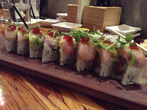 Sushi: blood-orange chutney makes the difference