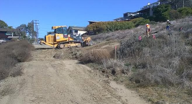 The trail system being installed will largely follow the existing trails.