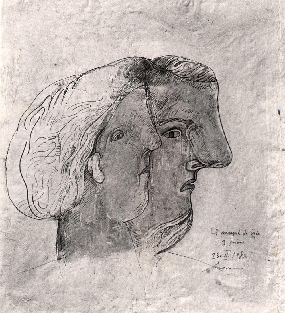 """""""The Marquis de Sade and Justine"""" by José Cuevas 1983"""