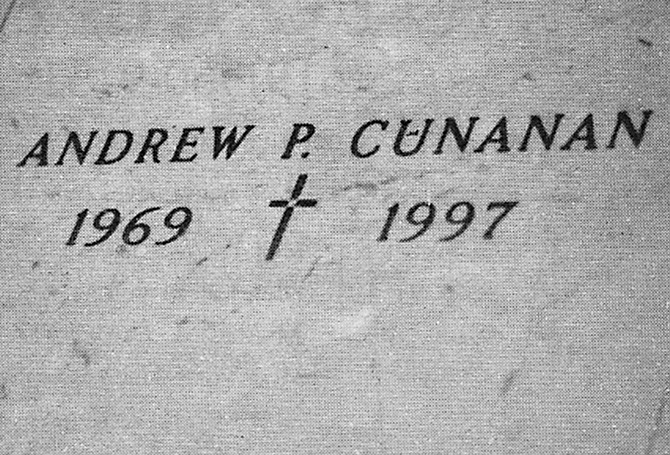 Andrew Cunanan's crypt - Image by Joe Klein