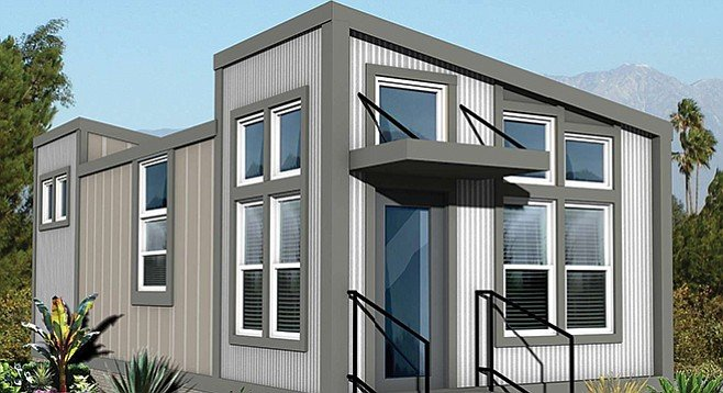 San Diego has wisely made it easier to build granny flats. This is the Leucadian model by Crest Backyard Homes.