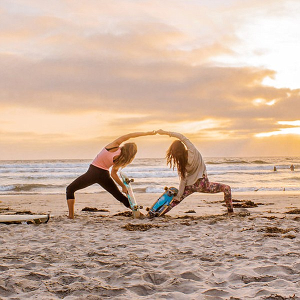 Nonstop yoga at Imperial Beach