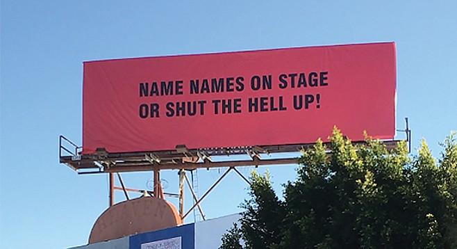 One billboard over Hollywood, California