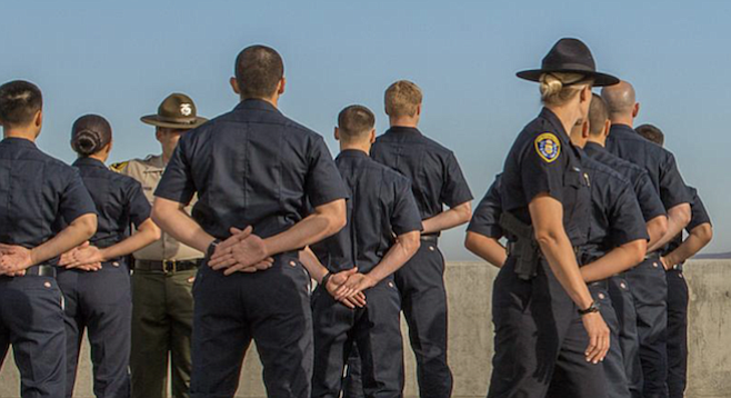 San Diego police recruits in training