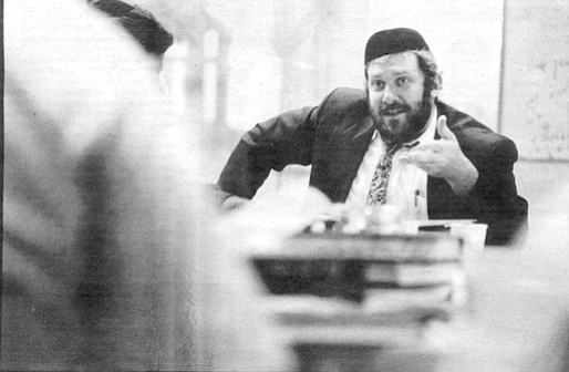 Rabbi Jeff Wohlgelernter, descendent of the Seer of Lublin, a holy mystic