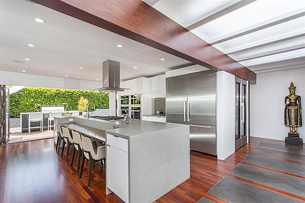 """""""Miele, Bosch and Thermador appliances, walk-in pantry and adjacent gathering room"""""""