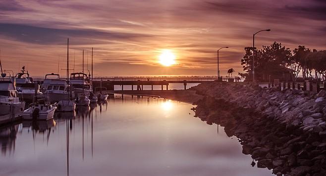 Sun sets on Chula Vista Marina