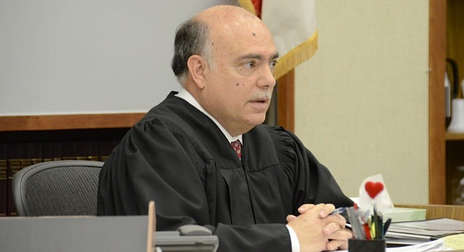 Hon. judge Carlos Armour asked for a translation. Photo Bob Weatherston