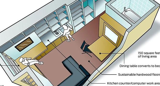 Micro-apartment on InfoWars