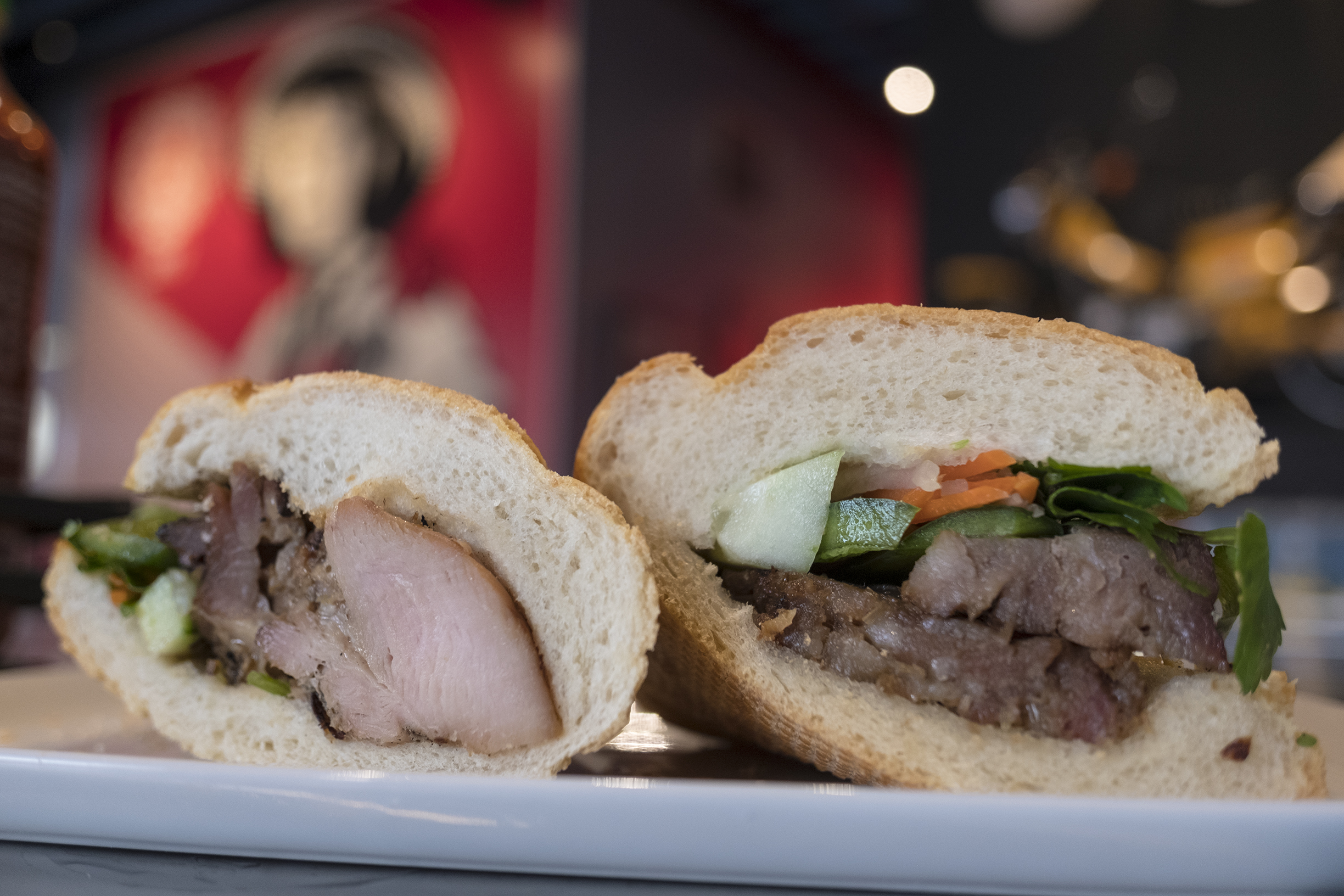 Banh mi served til 4pm, but not as flavorful as City Heights counterparts.