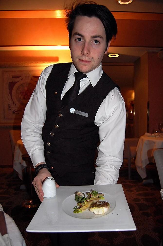 Haute cuisine served with panache in La Malvoisie at the five star Les Sources des Alpes Hotel & Spa.