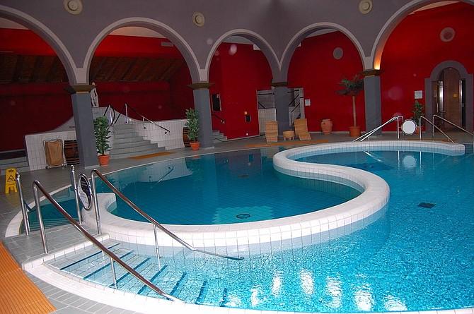The indoor Roman-Irish Bath at the Walliser Alpentherme & Spa facility.