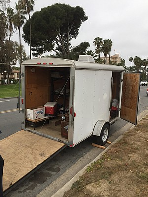 One scout leader who's a mechanic in Ocean Beach, took a detour home along East Mission Bay Drive and knew it was their stolen trailer at once.