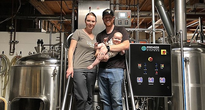 Council Brewing owners and young parents Curtis and Liz Chism are expanding their brewery, less than a year after expanding their family.